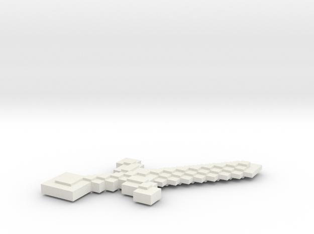 Minecraft Sword in White Natural Versatile Plastic: Small
