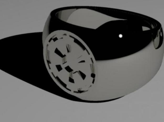 sw imperial cog ring 3d printed silver