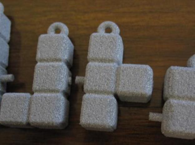 Earring Cubes 3d printed In Alumide.