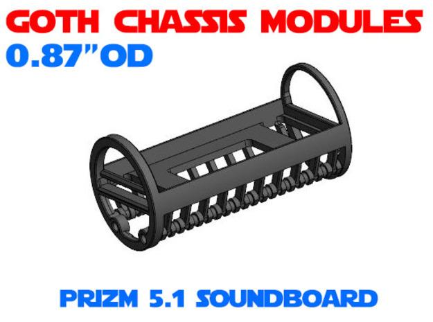 GCM087 - Prizm 5.1 soundboard chassis in White Natural Versatile Plastic