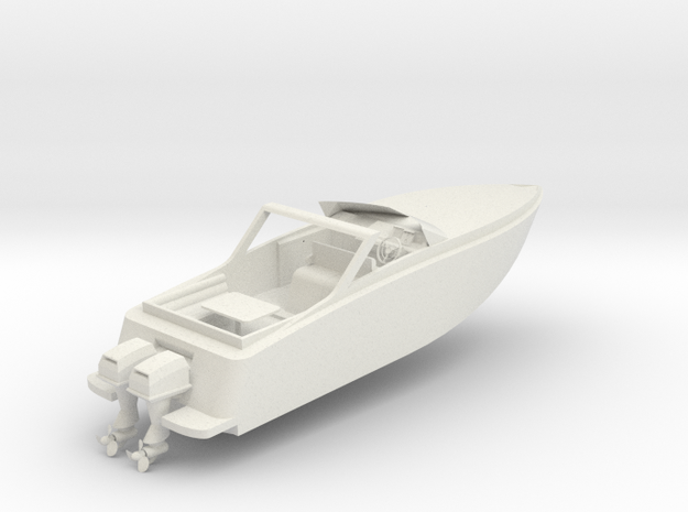 Speed Boat in White Strong & Flexible: 28mm