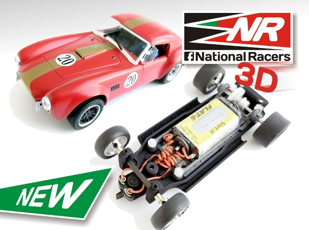 3D Chassis MRRC Shelby Cobra MO-35 - Inline in Black Strong & Flexible