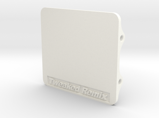 Tweaked Remix Electonic Plate in White Strong & Flexible Polished