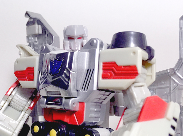 TR Neck Adaptor for Classics Voyager Megatron in White Strong & Flexible Polished