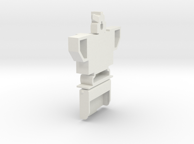 Soundwave Bust Cassette case in White Strong & Flexible