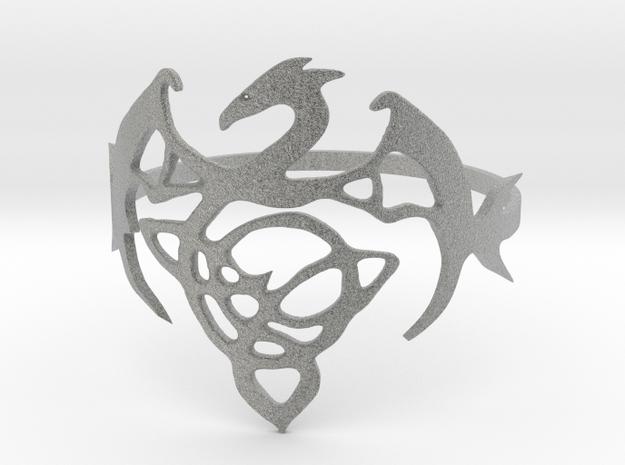 Dragon Ring in Metallic Plastic