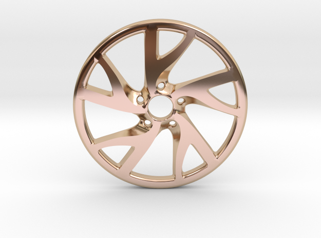 Rim Pendant in 14k Rose Gold Plated