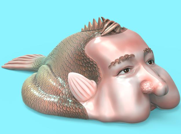 The Bottom Feeding Blobfish in Full Color Sandstone
