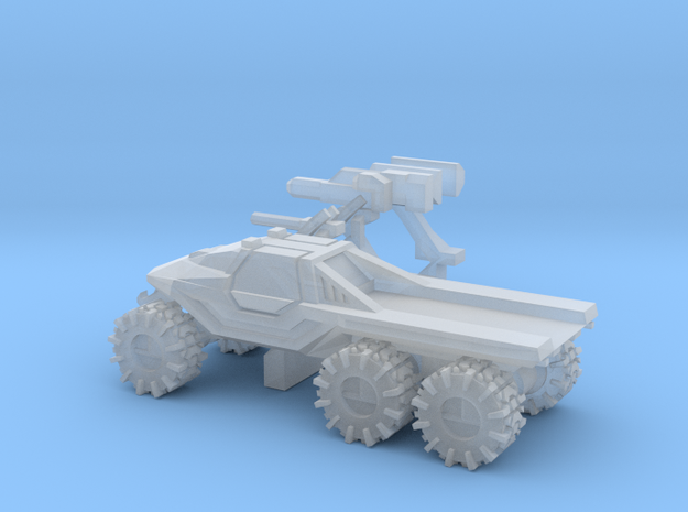 All-Terrain Vehicle 6x6 closed cab with open cargo in Smooth Fine Detail Plastic