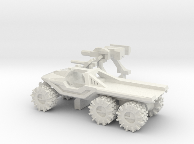 All-Terrain Vehicle 6x6 with open cargo bed in White Strong & Flexible