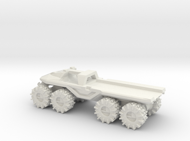 All-Terrain Vehicle with open cargo bed in White Strong & Flexible