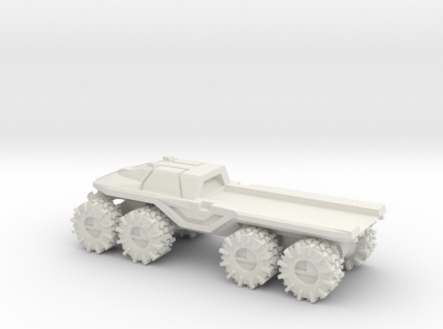 All-Terrain Vehicle closed cab with open cargo bed in White Strong & Flexible