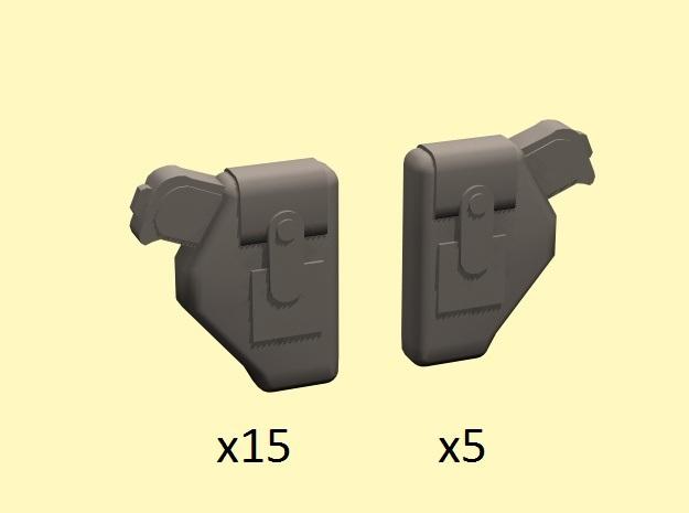 28mm Holstered pistols
