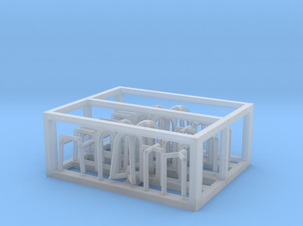 HO/1:87 Rotating beacon lights frame kit in Smooth Fine Detail Plastic