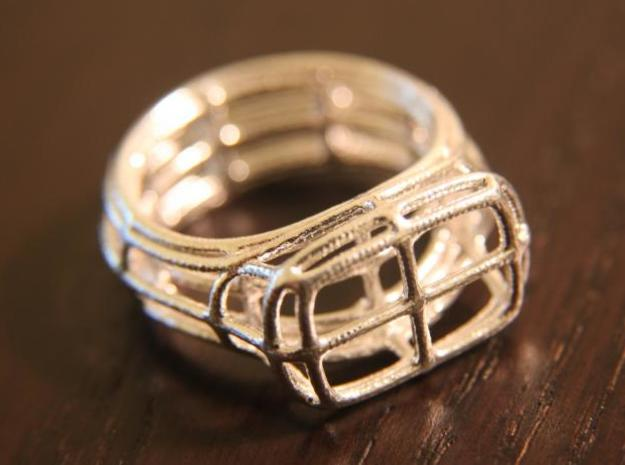 Simple Wire Signet 3d printed Silver