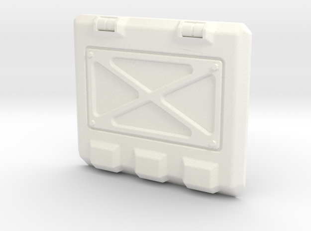Rhino Armored Rear Hatch in White Processed Versatile Plastic