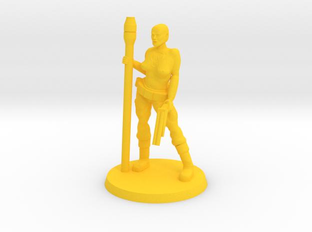 Deathgirl Katrina in Yellow Processed Versatile Plastic