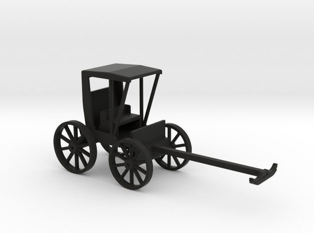 Buggy Single Seat Covered in Black Natural Versatile Plastic: 1:64 - S