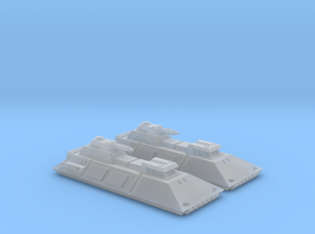 1/270 Imperial 1-L Tanks (2) in Smooth Fine Detail Plastic