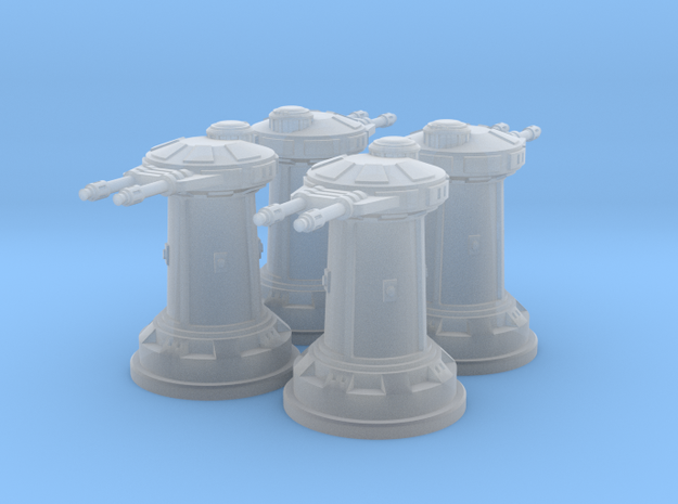 1/270 Rebel DF10 Heavy Turrets (4) in Frosted Ultra Detail