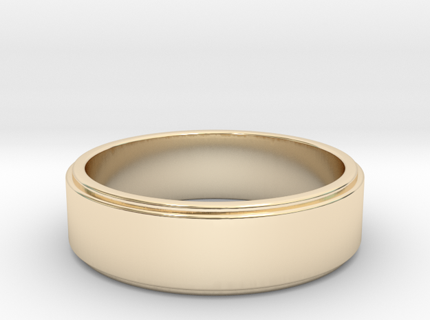 xavier wedding band in 14K Yellow Gold