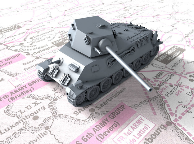 1/144 Czech Škoda T 25 Medium Tank in Smooth Fine Detail Plastic