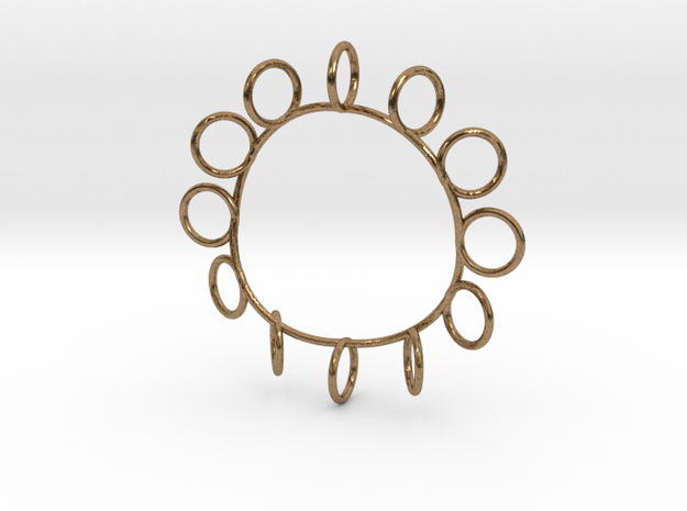 Askew Pendant in Natural Brass