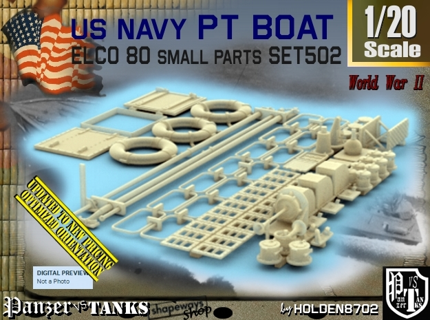 1/20 PT Boat Small Parts Set502
