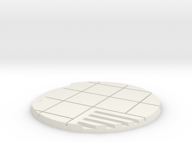 60mm Urban City Street Base - Style 2 in White Strong & Flexible