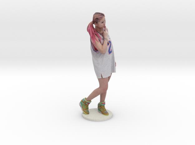 Scanned pretty Girl - 10CM High in Full Color Sandstone