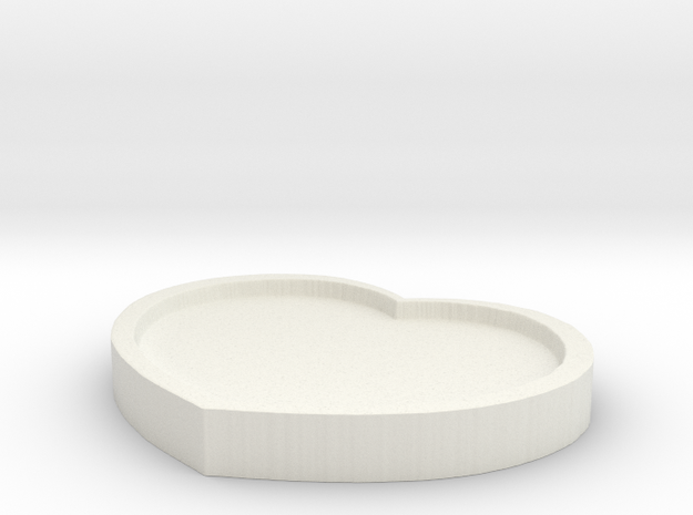 Heart Pad - 8CM Wide in White Strong & Flexible