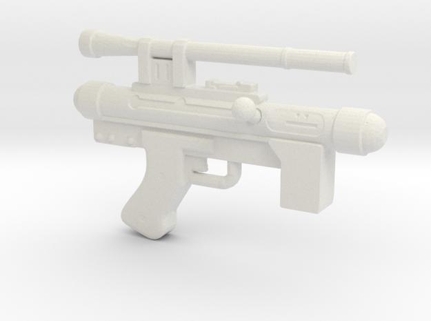 Star Wars Blaster Pistol SE-14C 1:12 scale in White Natural Versatile Plastic