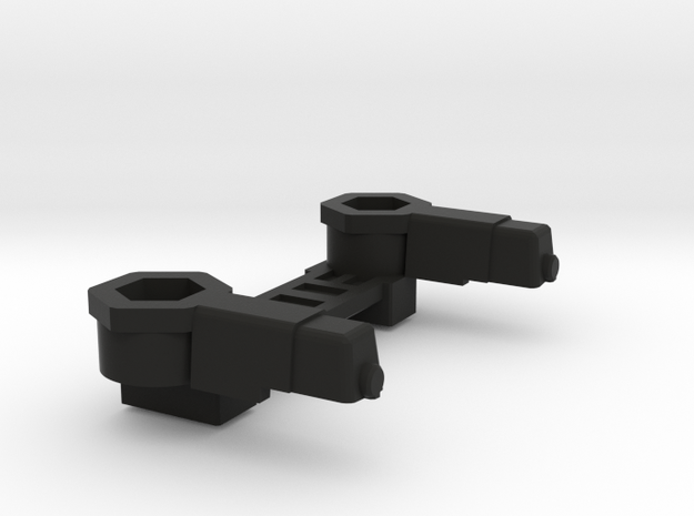 Lambo's Shoulder Pads with 5mm connectors in Black Natural Versatile Plastic