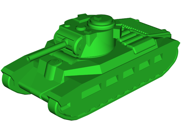 A12 Matilda-2 Infantry Tank in White Natural Versatile Plastic: Small