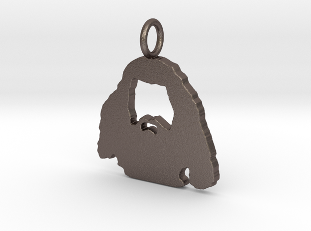 Hagrid Silhouette Pendant in Stainless Steel