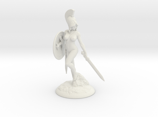 Spartania_80mm in White Natural Versatile Plastic