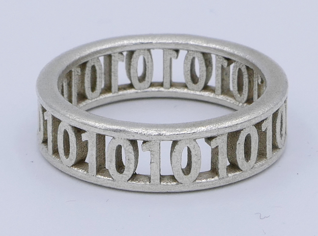 Binary ring in Natural Silver