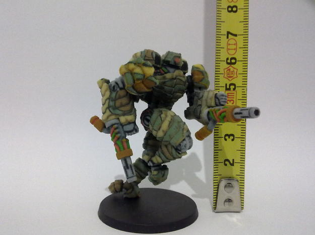 Mech suit with twin weapons. (8) 3d printed Height