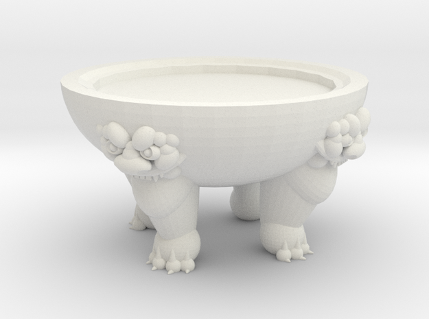 Clawfoot Vase Stand in White Natural Versatile Plastic