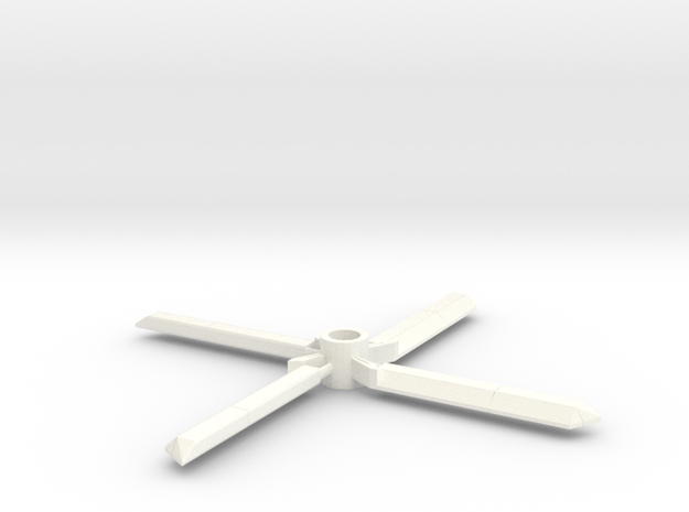 7mm decorative toy rotors in White Processed Versatile Plastic