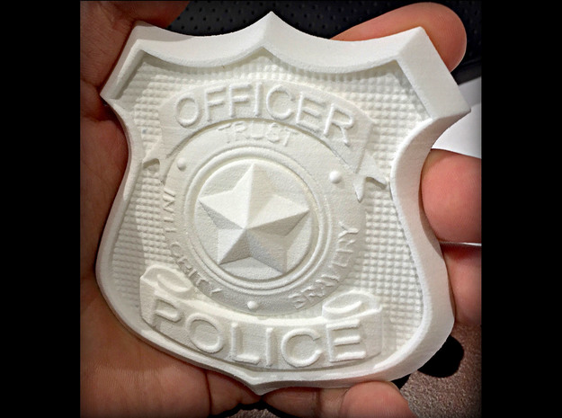 Zootopia Cosplay Police Badge in White Processed Versatile Plastic