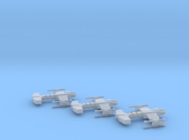 Behemoth class Battlecruiser x3 1:10000 in Frosted Ultra Detail