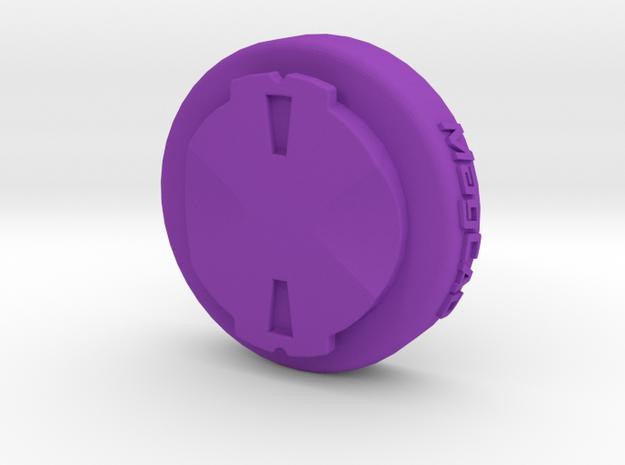 Wahoo Elemnt To Garmin Edge Adaptor Mount in Purple Processed Versatile Plastic
