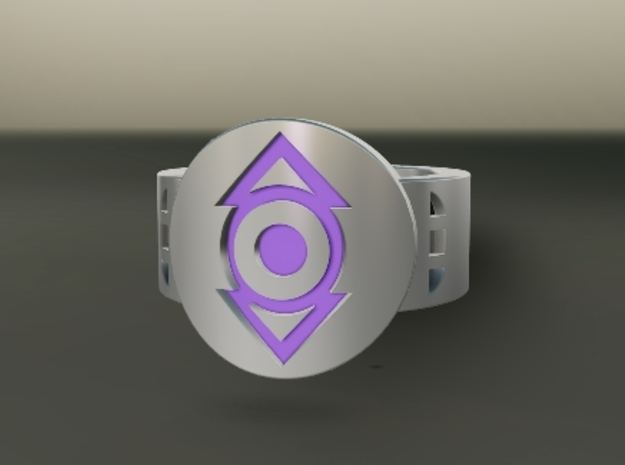 Indigo Tribe FF Ring Sz 15 3d printed Custom Enameled