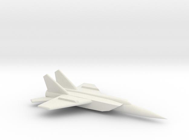MiG-25 (Foxbat) Jet Fighter in White Natural Versatile Plastic: Medium