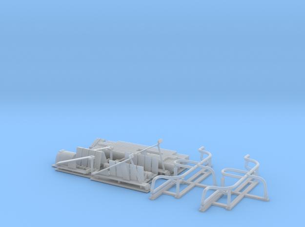 Sturmpanzer IV (Brummb盲r) early-mid Schurzen set in Smooth Fine Detail Plastic