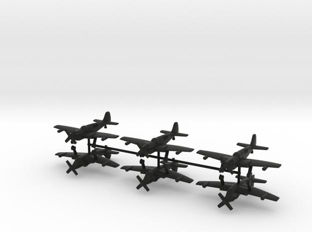 1/200 Fairey Firefly (x6) in Black Natural Versatile Plastic