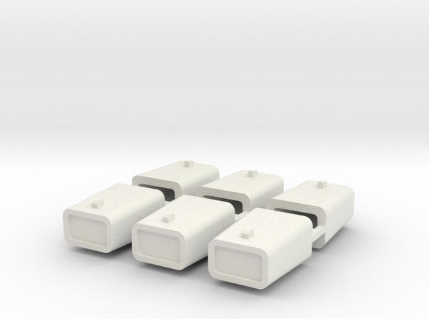 set4799 Stahlkokille 2 Zapfen quer mit Guß 6erSet  in White Natural Versatile Plastic