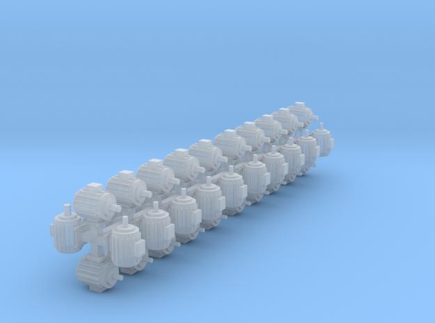 Elektromotoren Größe A 40er Set 1:120 in Smooth Fine Detail Plastic