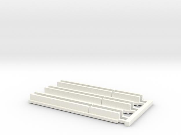 S Snowshields in White Processed Versatile Plastic